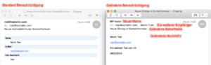 E-Mail Benachrichtigungen im Vergleich
