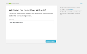 Hier kann man den Webseitentitel angeben oder ändern.
