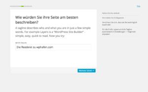 Hier kann man den Webseitenbeschreibung angeben oder ändern.
