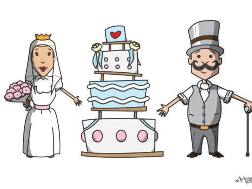 Hochzeitszeichnung