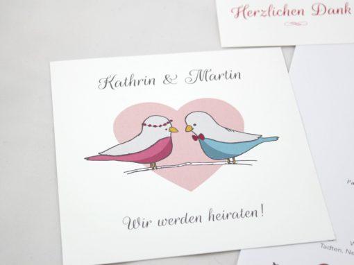Hochzeitsset Vögel