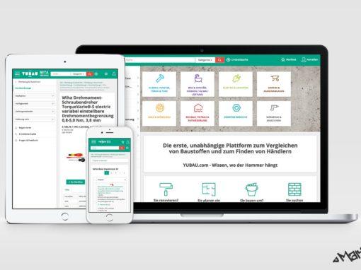Screendesign of YUBAU.com
